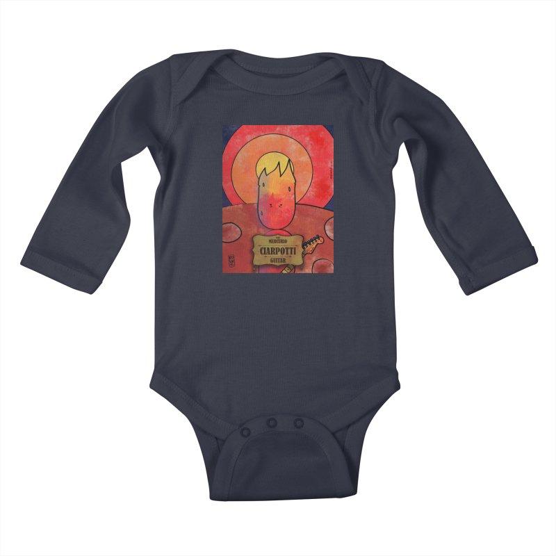 CIARPOTTI_GUITAR Kids Baby Longsleeve Bodysuit by ZEROSTILE'S ARTIST SHOP