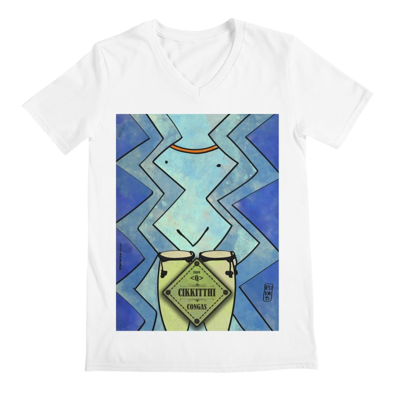 CIKKITTHI_Congas Men's V-Neck by ZEROSTILE'S ARTIST SHOP