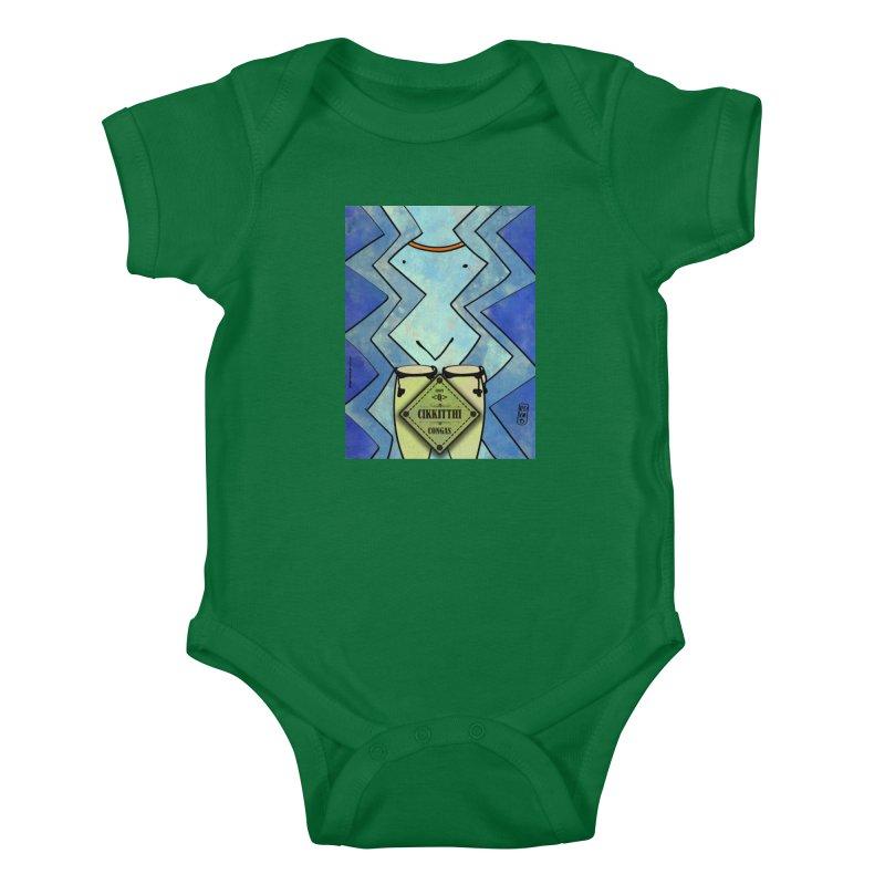 CIKKITTHI_Congas Kids Baby Bodysuit by ZEROSTILE'S ARTIST SHOP