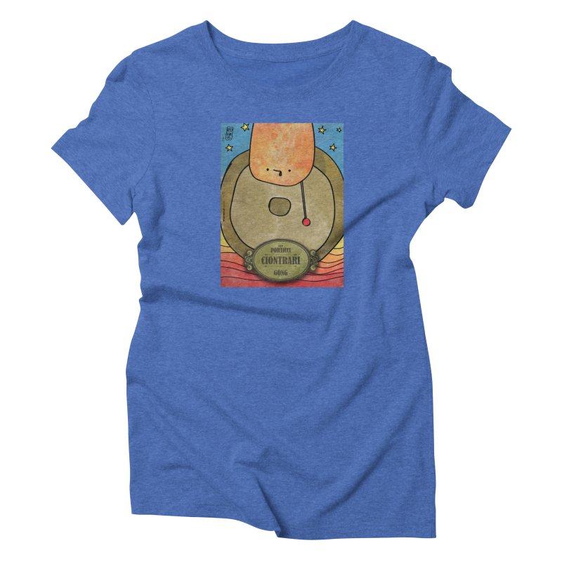 CIONTRARI_Gong in Women's Triblend T-Shirt Blue Triblend by ZEROSTILE'S ARTIST SHOP