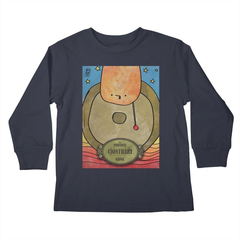 CIONTRARI_Gong Kids Longsleeve T-Shirt by ZEROSTILE'S ARTIST SHOP
