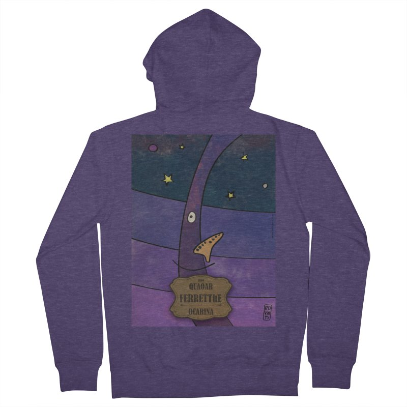 FERRETThE_Ocarina Men's French Terry Zip-Up Hoody by ZEROSTILE'S ARTIST SHOP