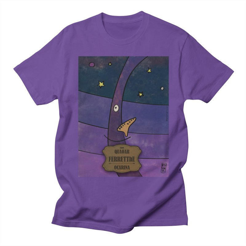 FERRETThE_Ocarina in Men's T-shirt Purple by ZEROSTILE'S ARTIST SHOP
