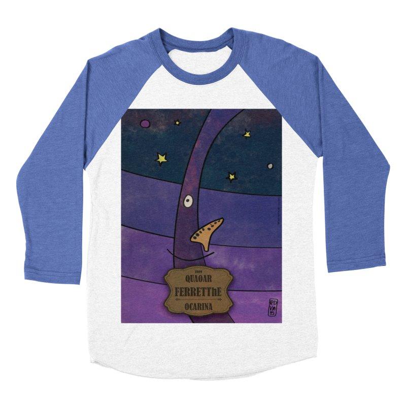 FERRETThE_Ocarina Men's Baseball Triblend Longsleeve T-Shirt by ZEROSTILE'S ARTIST SHOP