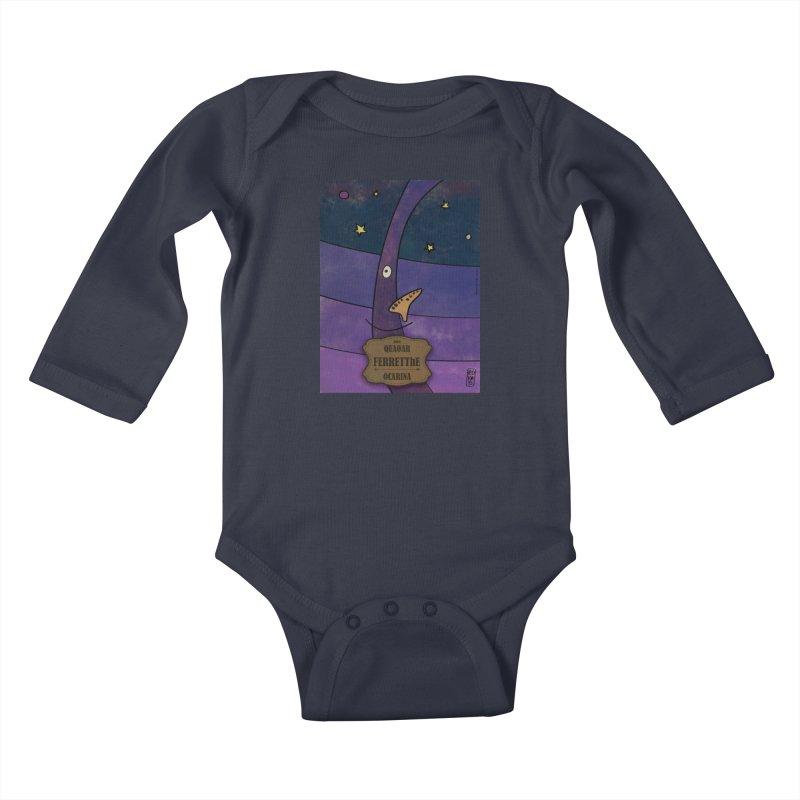 FERRETThE_Ocarina Kids Baby Longsleeve Bodysuit by ZEROSTILE'S ARTIST SHOP