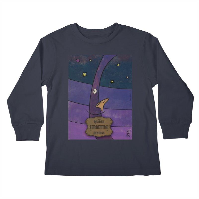 FERRETThE_Ocarina Kids Longsleeve T-Shirt by ZEROSTILE'S ARTIST SHOP
