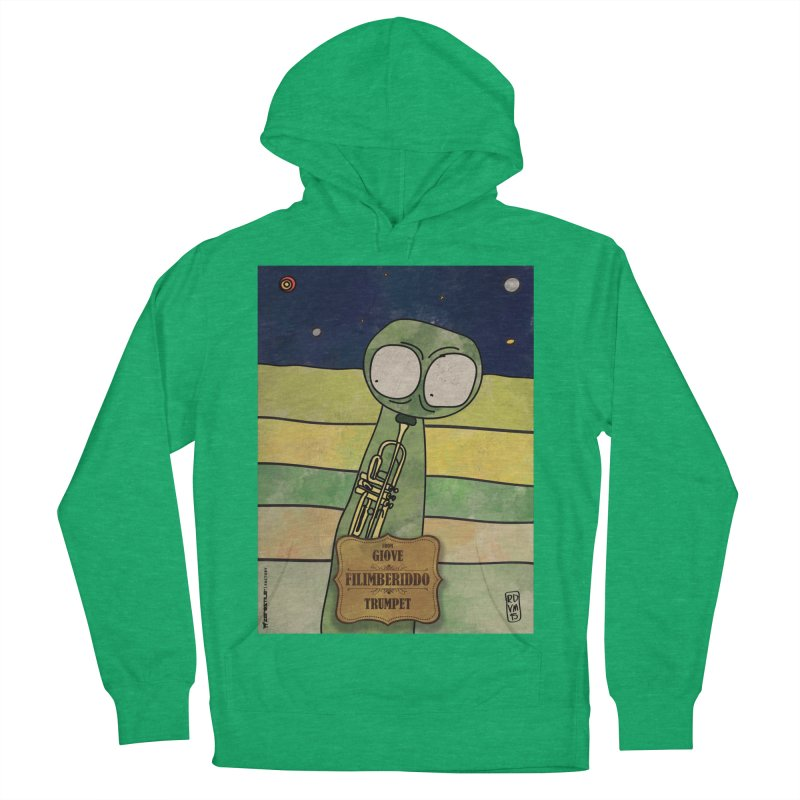 FILIMBERIDDO_Trumpet Men's French Terry Pullover Hoody by ZEROSTILE'S ARTIST SHOP