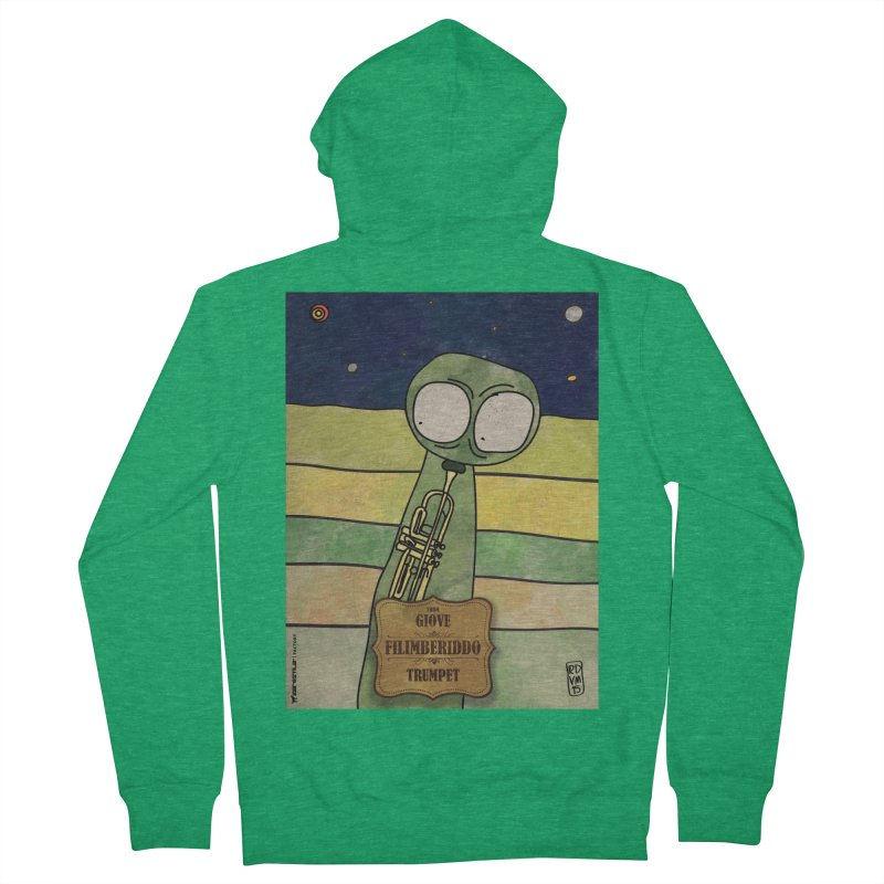 FILIMBERIDDO_Trumpet Women's Zip-Up Hoody by ZEROSTILE'S ARTIST SHOP