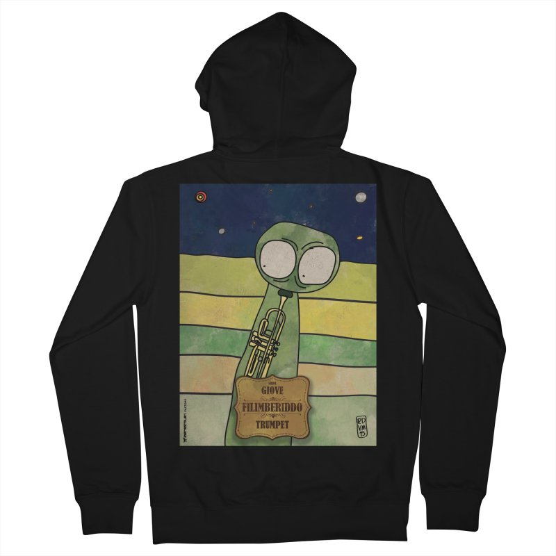 FILIMBERIDDO_Trumpet Men's French Terry Zip-Up Hoody by ZEROSTILE'S ARTIST SHOP