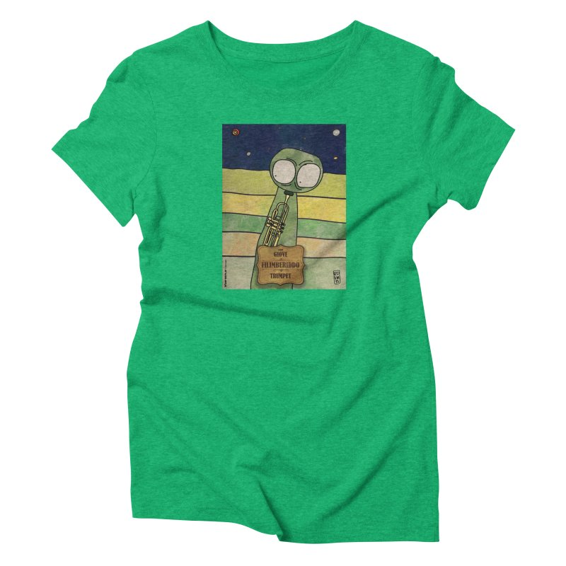 FILIMBERIDDO_Trumpet in Women's Triblend T-Shirt Tri-Kelly by ZEROSTILE'S ARTIST SHOP
