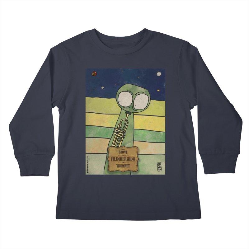 FILIMBERIDDO_Trumpet Kids Longsleeve T-Shirt by ZEROSTILE'S ARTIST SHOP