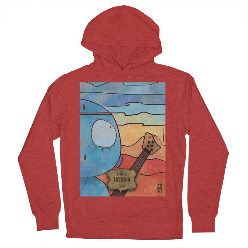 LAURINO_Bass Men's French Terry Pullover Hoody by ZEROSTILE'S ARTIST SHOP
