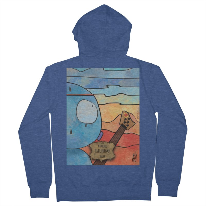 LAURINO_Bass Women's French Terry Zip-Up Hoody by ZEROSTILE'S ARTIST SHOP