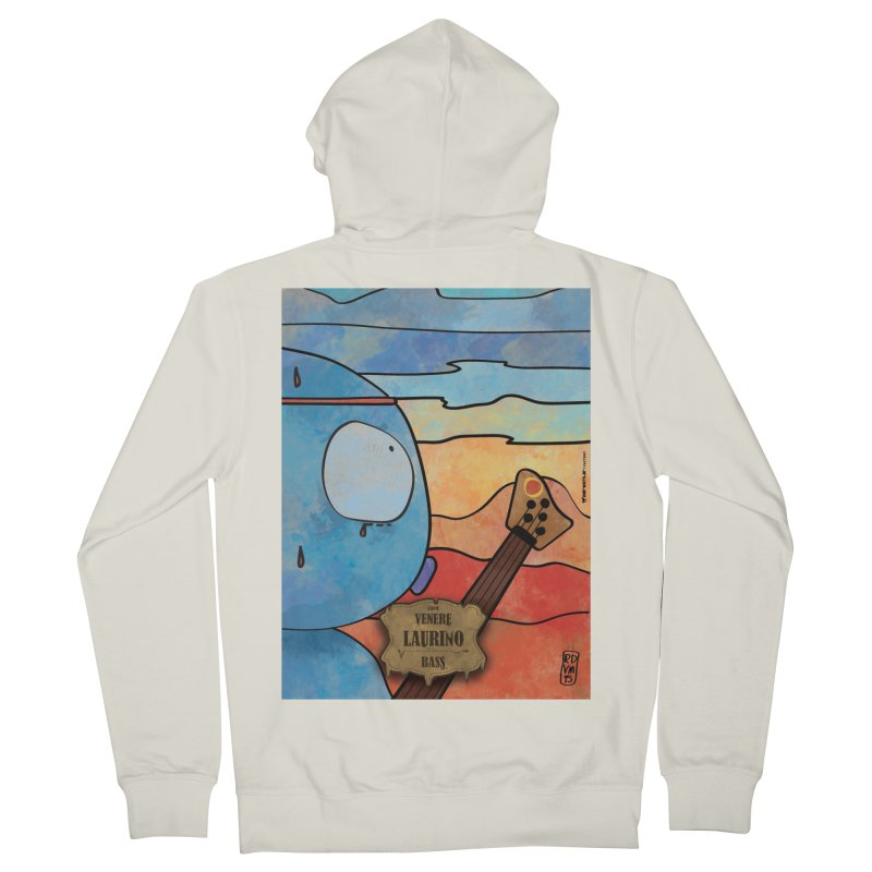 LAURINO_Bass Men's French Terry Zip-Up Hoody by ZEROSTILE'S ARTIST SHOP