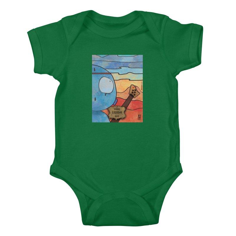 LAURINO_Bass Kids Baby Bodysuit by ZEROSTILE'S ARTIST SHOP