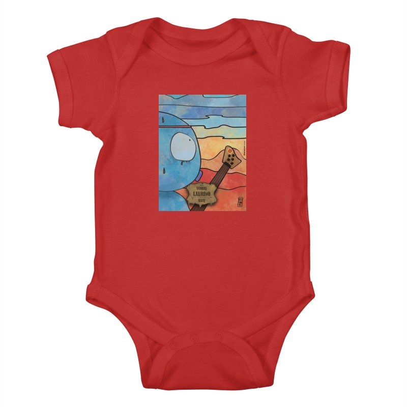 LAURINO_Bass Kids Baby Bodysuit by ZEROSTILE'S ARTIST SHOP