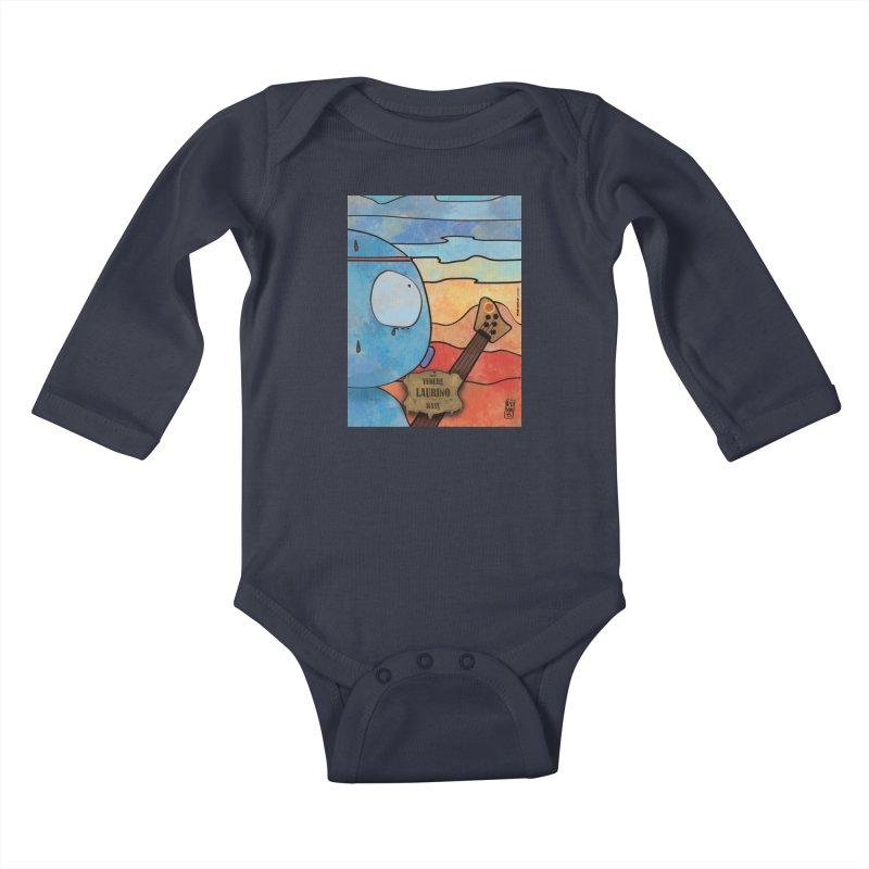 LAURINO_Bass Kids Baby Longsleeve Bodysuit by ZEROSTILE'S ARTIST SHOP