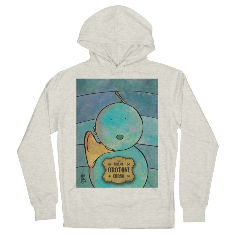 OROTONI_Corno Women's French Terry Pullover Hoody by ZEROSTILE'S ARTIST SHOP
