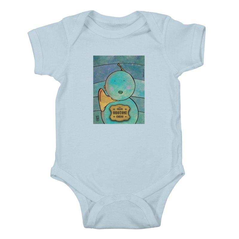 OROTONI_Corno Kids Baby Bodysuit by ZEROSTILE'S ARTIST SHOP