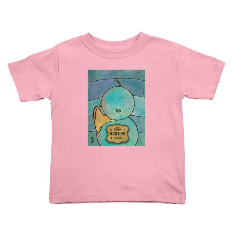 OROTONI_Corno Kids Toddler T-Shirt by ZEROSTILE'S ARTIST SHOP