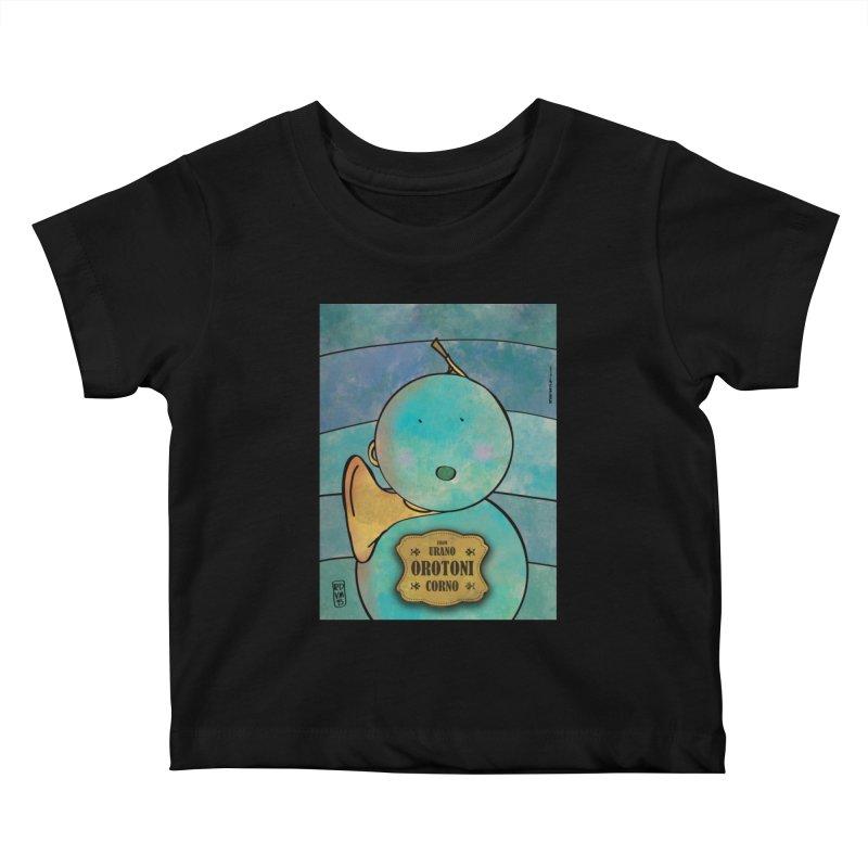 OROTONI_Corno Kids Baby T-Shirt by ZEROSTILE'S ARTIST SHOP