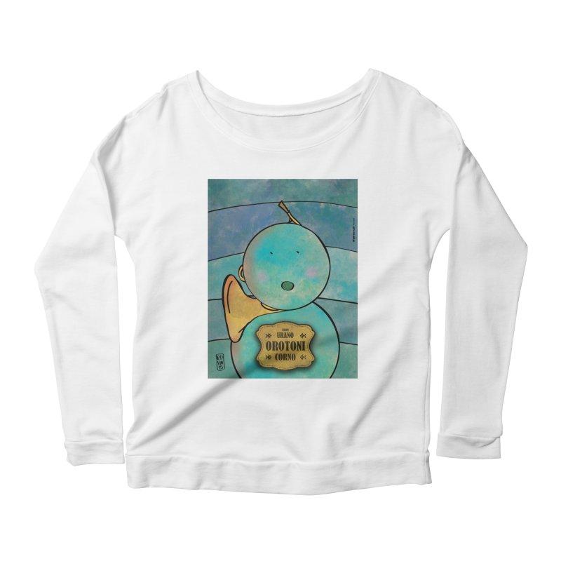 OROTONI_Corno Women's Scoop Neck Longsleeve T-Shirt by ZEROSTILE'S ARTIST SHOP