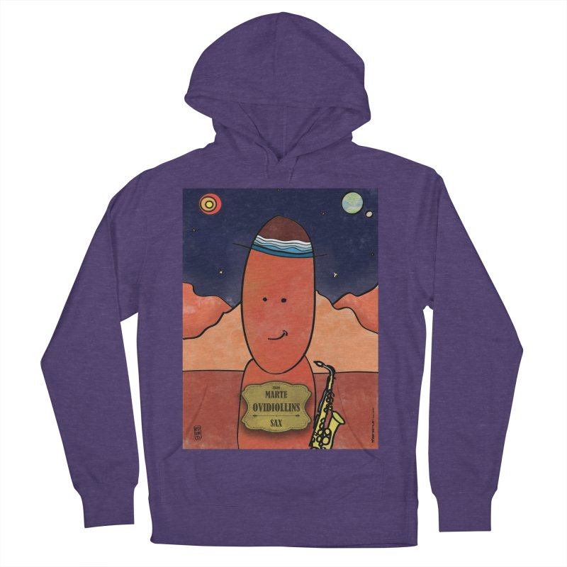 OVIDIOLLINIS_Sax Men's French Terry Pullover Hoody by ZEROSTILE'S ARTIST SHOP