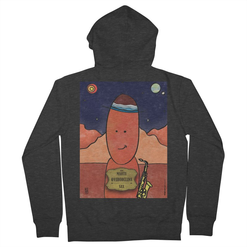 OVIDIOLLINIS_Sax Men's French Terry Zip-Up Hoody by ZEROSTILE'S ARTIST SHOP