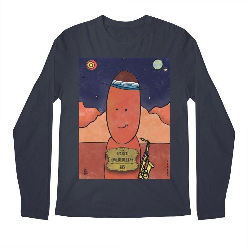 OVIDIOLLINIS_Sax Men's Regular Longsleeve T-Shirt by ZEROSTILE'S ARTIST SHOP