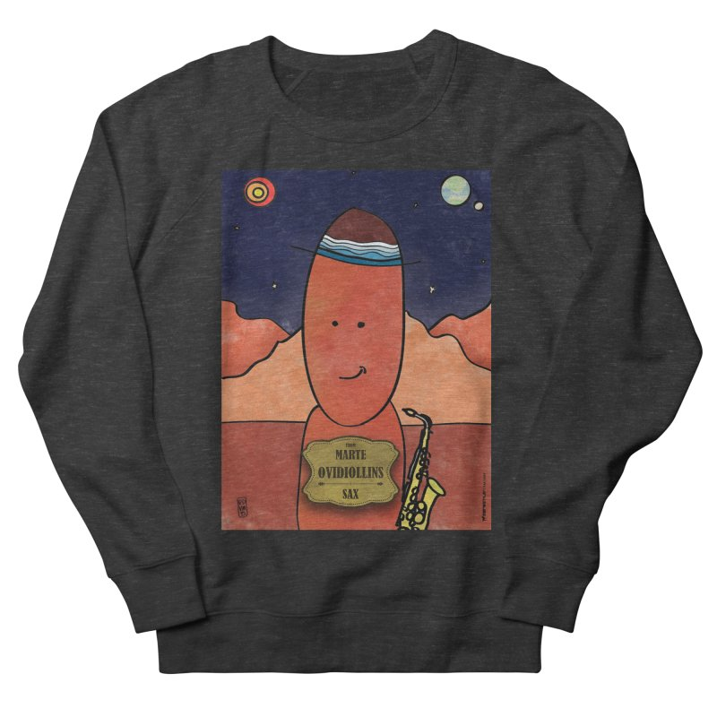 OVIDIOLLINIS_Sax Women's French Terry Sweatshirt by ZEROSTILE'S ARTIST SHOP