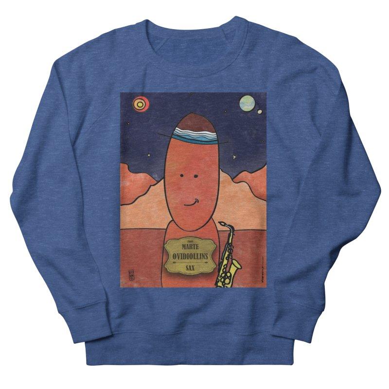 OVIDIOLLINIS_Sax Women's French Terry Sweatshirt by ZEROSTILE'S ARTIST SHOP