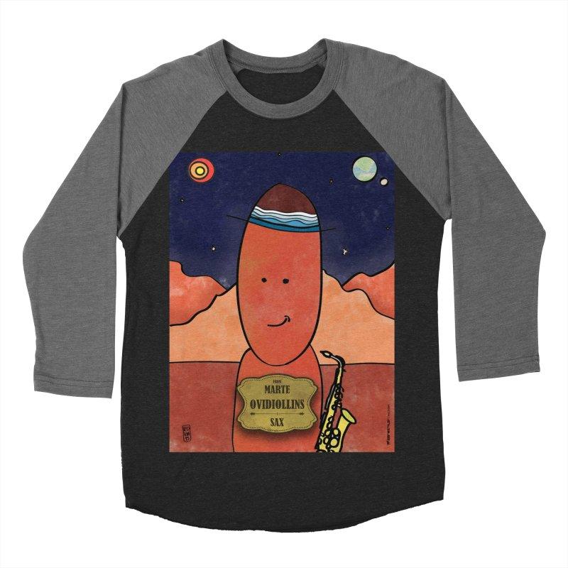 OVIDIOLLINIS_Sax Men's Baseball Triblend Longsleeve T-Shirt by ZEROSTILE'S ARTIST SHOP