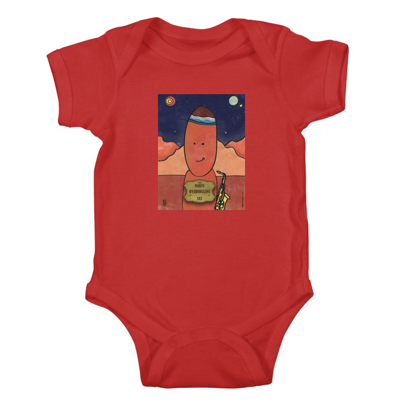 OVIDIOLLINIS_Sax Kids Baby Bodysuit by ZEROSTILE'S ARTIST SHOP