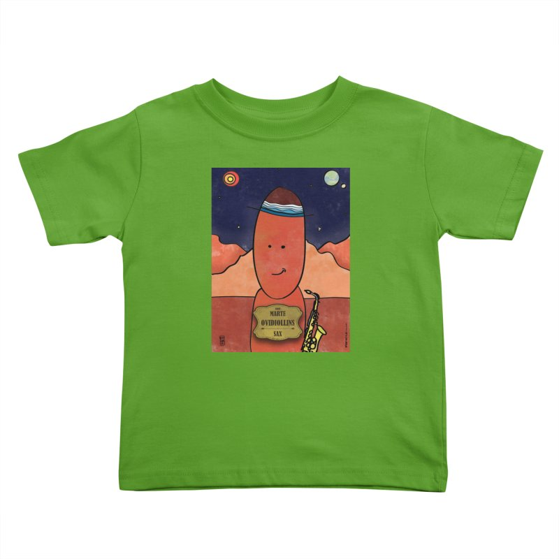 OVIDIOLLINIS_Sax Kids Toddler T-Shirt by ZEROSTILE'S ARTIST SHOP
