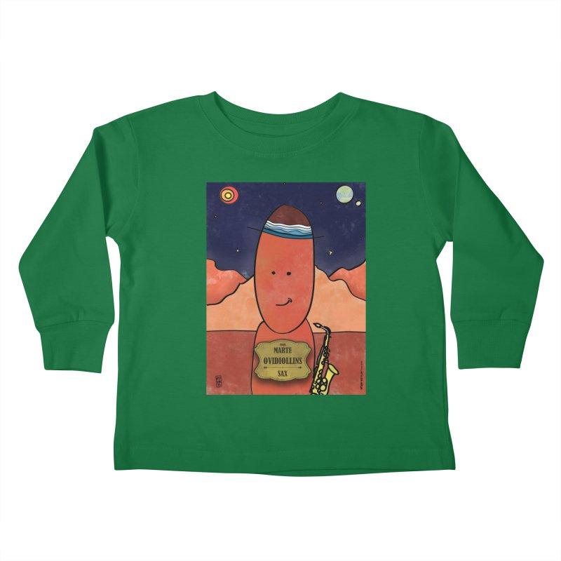 OVIDIOLLINIS_Sax Kids Toddler Longsleeve T-Shirt by ZEROSTILE'S ARTIST SHOP