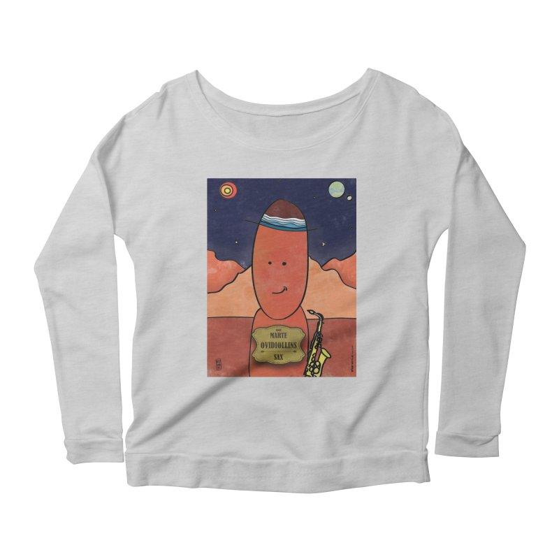 OVIDIOLLINIS_Sax Women's Scoop Neck Longsleeve T-Shirt by ZEROSTILE'S ARTIST SHOP