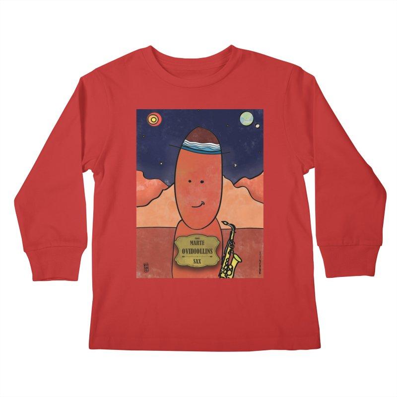 OVIDIOLLINIS_Sax Kids Longsleeve T-Shirt by ZEROSTILE'S ARTIST SHOP