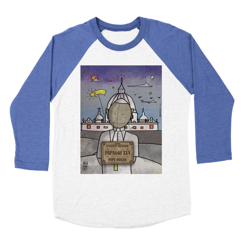 PAPAGGI XXV_Pipe Organ in Men's Baseball Triblend Longsleeve T-Shirt Tri-Blue Sleeves by ZEROSTILE'S ARTIST SHOP