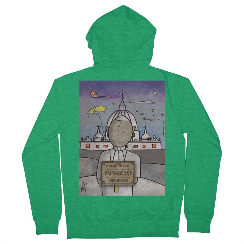 PAPAGGI XXV_Pipe Organ Men's Zip-Up Hoody by ZEROSTILE'S ARTIST SHOP