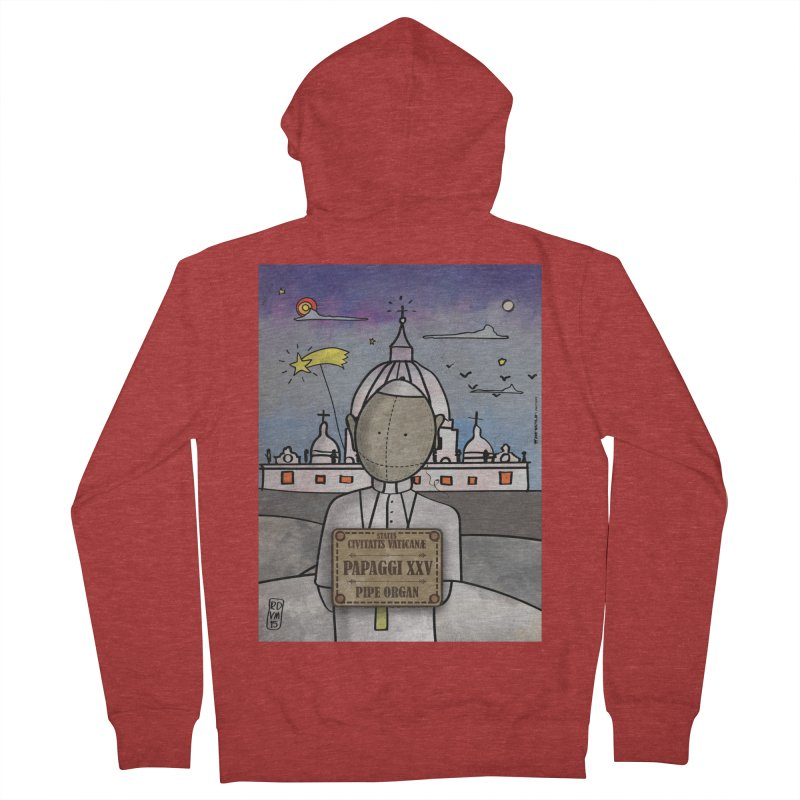 PAPAGGI XXV_Pipe Organ Men's French Terry Zip-Up Hoody by ZEROSTILE'S ARTIST SHOP