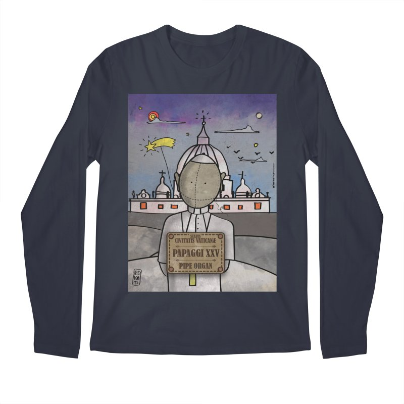 PAPAGGI XXV_Pipe Organ Men's Regular Longsleeve T-Shirt by ZEROSTILE'S ARTIST SHOP