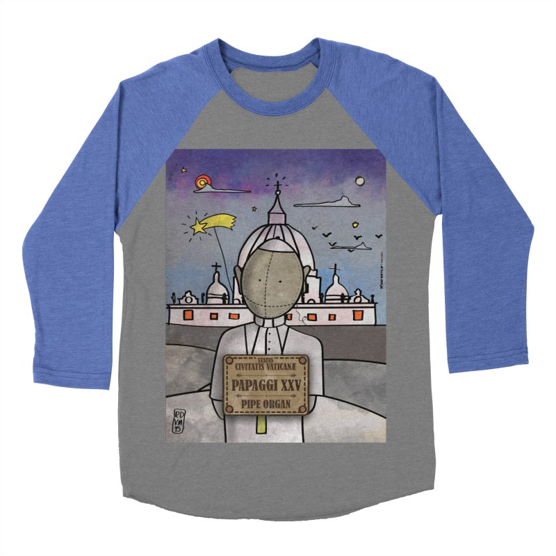 PAPAGGI XXV_Pipe Organ Men's Baseball Triblend Longsleeve T-Shirt by ZEROSTILE'S ARTIST SHOP