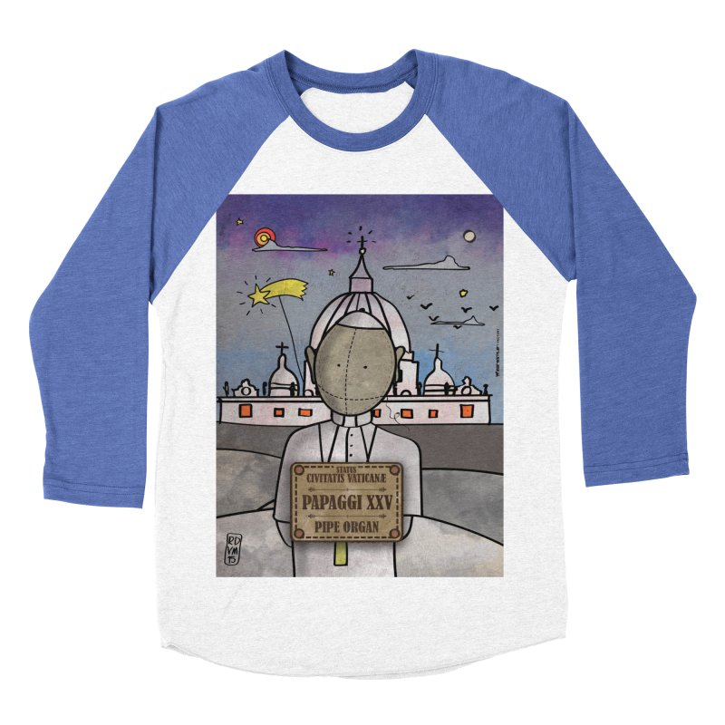 PAPAGGI XXV_Pipe Organ in Men's Baseball Triblend T-Shirt Tri-Blue Sleeves by ZEROSTILE'S ARTIST SHOP