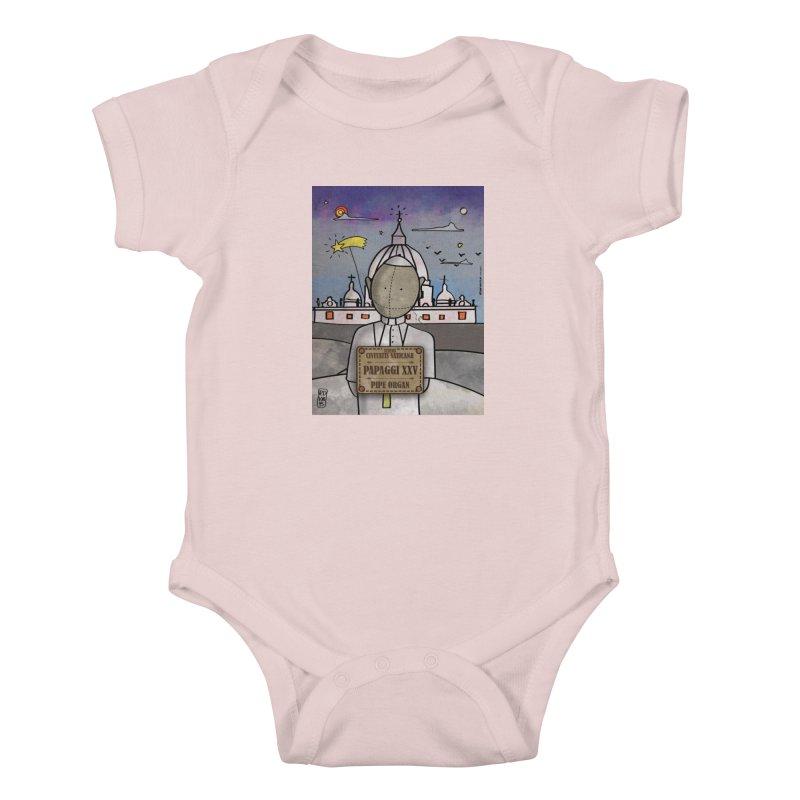PAPAGGI XXV_Pipe Organ Kids Baby Bodysuit by ZEROSTILE'S ARTIST SHOP