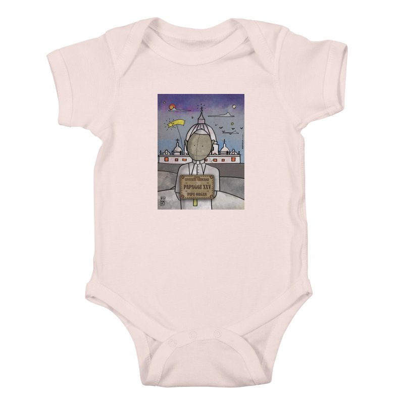 PAPAGGI XXV_Pipe Organ Kids Baby Bodysuit by ZEROSTILE'S ARTIST SHOP