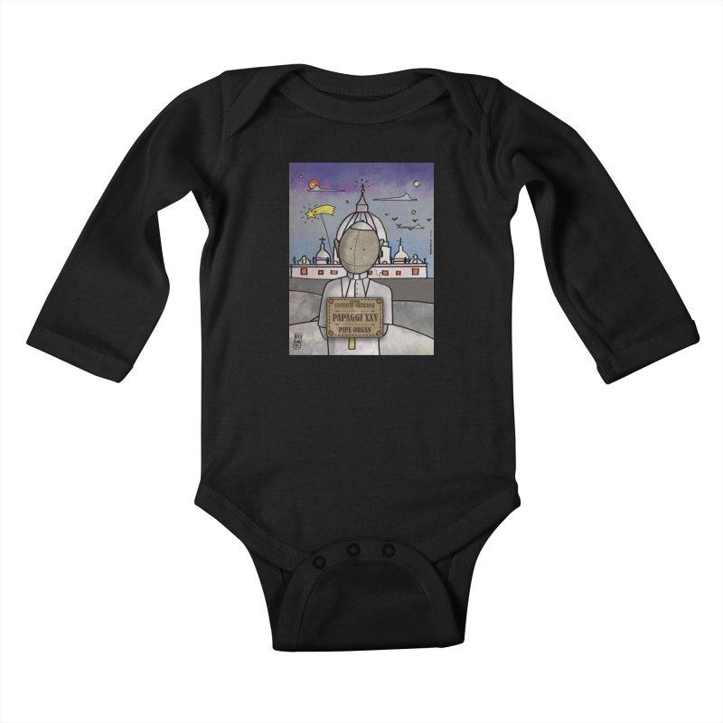 PAPAGGI XXV_Pipe Organ Kids Baby Longsleeve Bodysuit by ZEROSTILE'S ARTIST SHOP
