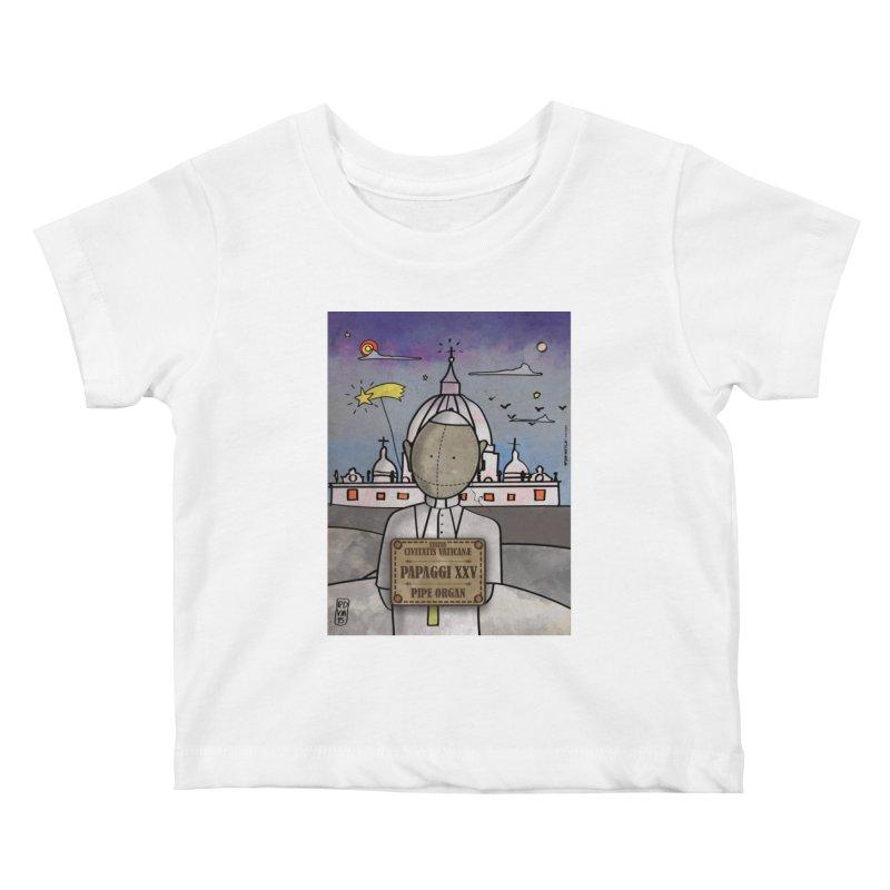 PAPAGGI XXV_Pipe Organ Kids Baby T-Shirt by ZEROSTILE'S ARTIST SHOP