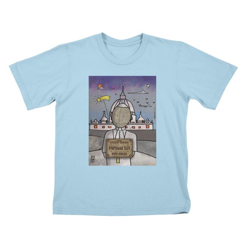 PAPAGGI XXV_Pipe Organ Kids T-Shirt by ZEROSTILE'S ARTIST SHOP