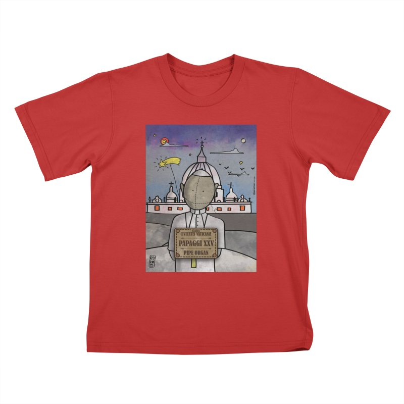 PAPAGGI XXV_Pipe Organ Kids T-Shirt by ZEROSTILE'S ARTIST SHOP