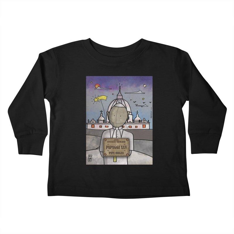 PAPAGGI XXV_Pipe Organ Kids Toddler Longsleeve T-Shirt by ZEROSTILE'S ARTIST SHOP